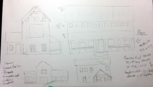 Farmhouse meets barn... sketching the problem