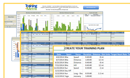 calendar view triathlon workout and training log