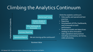 The Analytics Continuum: a blueprint for adoption