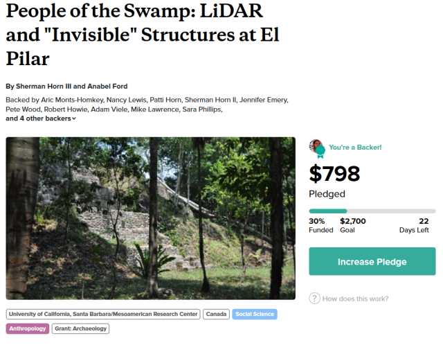 Support the El Pilar LIDAR Mapping Project
