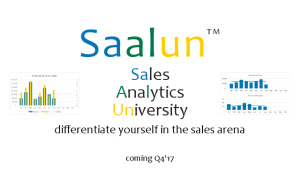 Saalun - Sales Analytics University for Reps and Analysts